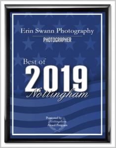 2019 Best of Nottingham Award for Erin Swann Photography